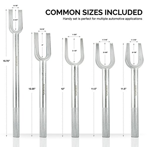 Neiko 20687A Ball Joint Separator Tie Rod Remover Pickle Fork, 5 Piece Set by Neiko (Image #4)