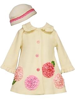 Bonnie Jean Girls Pink Leopard Bonaz Fleece Fall Winter Coat /& Hat