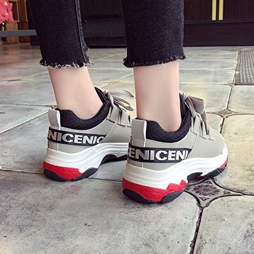 Vampiro Corsa Grigio Ragazze A Di In Da Pu Libero Ginnastica Le Tempo Palestra Scarpe Sneakers Donna Movimento Piedi Chunky Vansney qXxw641gg