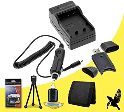 SDHC Card USB Reader Halcyon Brand 600 mAH Charger with Car Charger Attachment Kit Deluxe Starter Kit for Canon PowerShot G11 10.0 MP Digital Camera and Canon NB-7L Memory Card Wallet