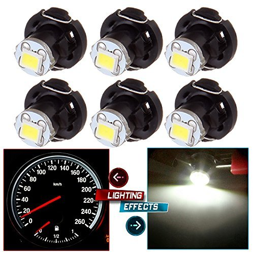 2007 Round Head Nails - cciyu 6 Pack White T4/T4.2 Neo Wedge LED Bulb A/C Climate Control Lights