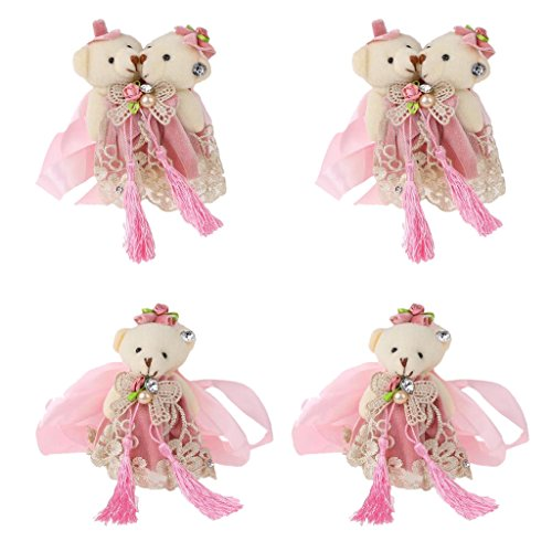 Baoblaze 4pcs Wedding Room Kids' Bedroom Decoration Little Bear Curtain Tieback by Baoblaze