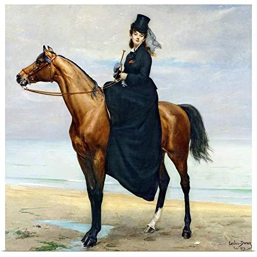 GREATBIGCANVAS Poster Print Entitled Equestrian Portrait of Mademoiselle Croizette, 1873 by Charles Emile Auguste Carolus-Duran 30