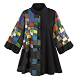 CATALOG CLASSICS Women's Paul Klee Button Down Swing Jacket - Small/Medium