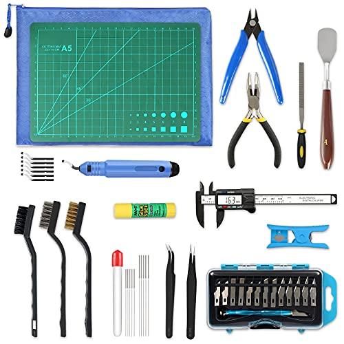 Kit de herramientas impresora 3d p/limpieza acabado 45 uni