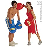 Inflatable Boxing Lace Lycra and Neon Gloves for Fancy Dress Costumes Accessory