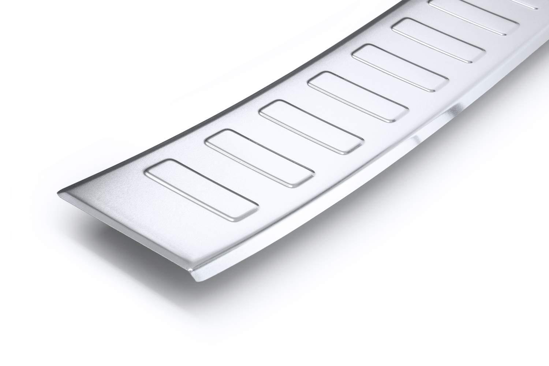 einfache Montage Farbe:Silber teileplus24 AL103 Ladekantenschutz aus technischem Vollaluminium mit 3D Pr/ägungen und Abkantung fahrzeugspezifische Passform