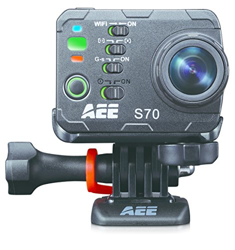 AEE Technology S70 Waterproof Video Camera with 10.0x Digital Zoom and 2.0-Inch LCD (Black) by AEE Technology