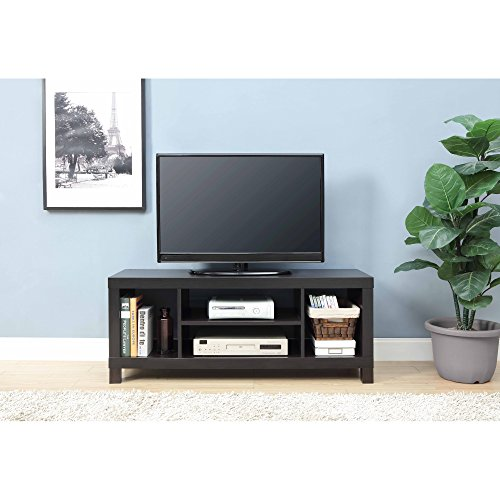 Open TV Stand up to 42'' Modern and Sturdy Home Entertainment Television Cabinet, Living Room Furniture for Console, Books, Speakers, Accessories in Espresso Finish