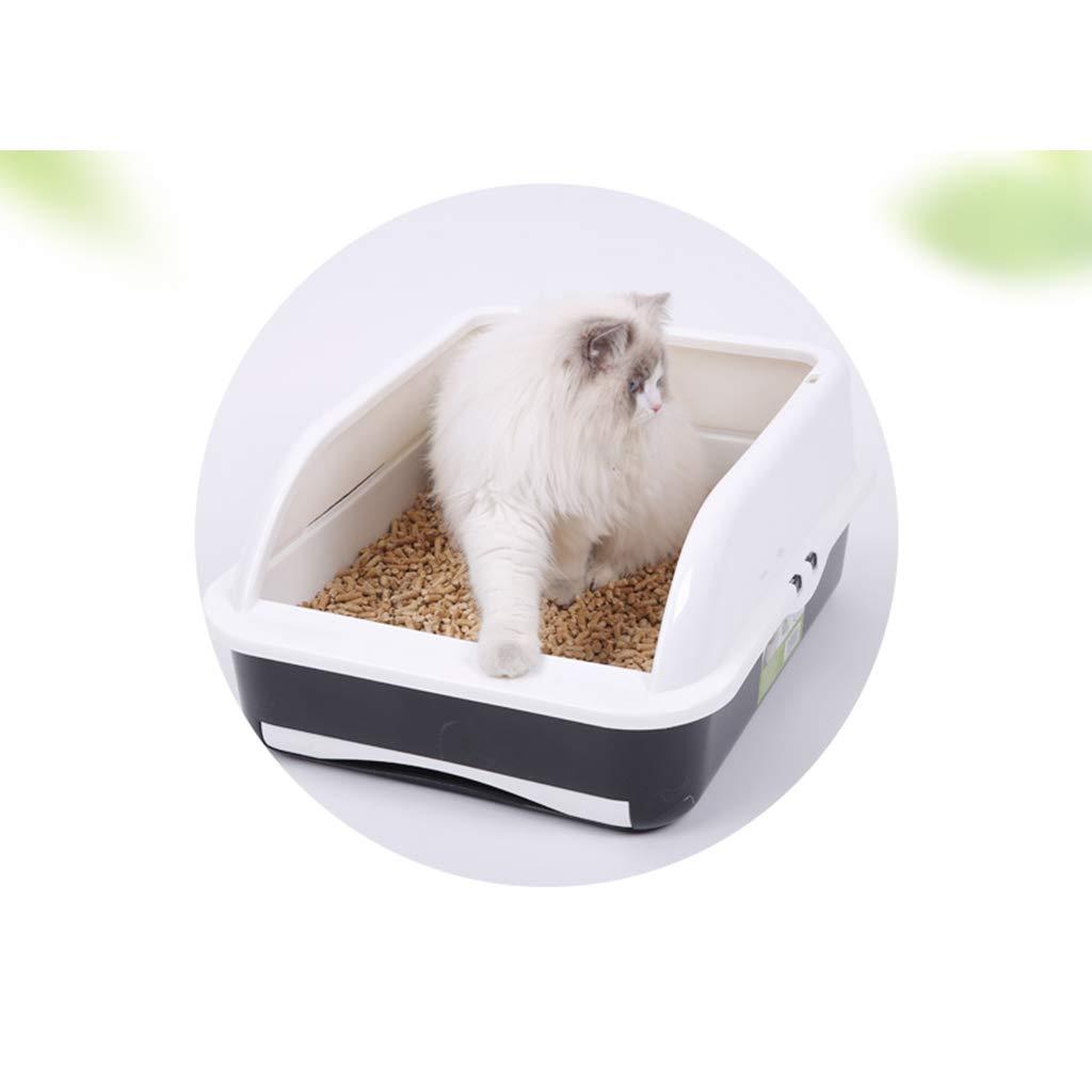 Wcx Bandeja de Basura para Gatos Tipo de cajón Caja de Arena con autolimpieza para Gatos Tamaños higiénicos automáticos Caja de Inodoro de Alta Cara Pan Loo ...