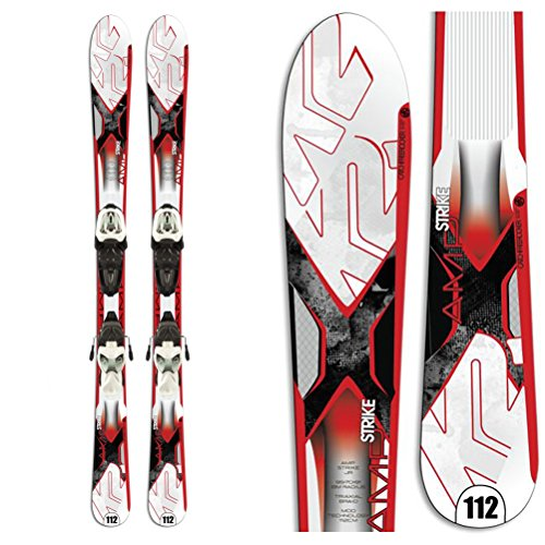K2 Strike Jr. Kids Skis with Marker 4.5 Fastrak Bindings 124cm