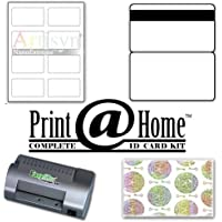 ID Card Kit 50 with Laminator, Teslin, Butterfly Pouches, and Holograms