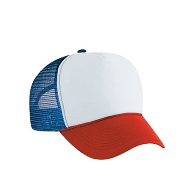 MyPartyShirt Red White and Blue Dustin Henderson Trucker Cap at ... ea31a9ca804