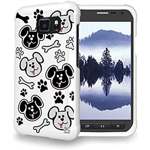 Beyond Cell Galaxy S7 Active Case, S7 Active Case, Hybrid Slim Design 2 piece Snap On Non-Slip Matte Hard Rubberized Phone Cover-Cute Puppies Sales