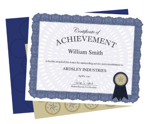 Geographics Certificate Kit Blue Ribbon Acclaim, Pack of 25 (47860)