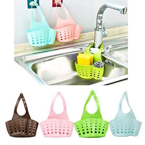 JHFUH 2Pcs Portable Home Kitchen Hanging Drain Bag Basket Bath Storage Tools Sink Kitchen Storage Bag Suitable for Sponge Washcloth Razor Hang in Kitchen Bathroom Faucet - Dish Riser Mount Soap
