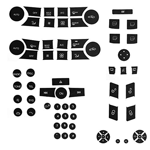 - for 2007-2014 Mercedes Benz Button Repair Package Steering AC Window Decals Stickers