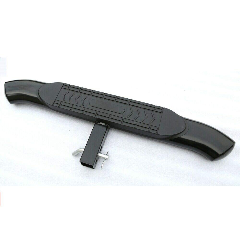 1pc Universal 37.4 Inch Long Black 5'' Curved Hitch Rear Step for Vehicle with 2'' Receiver by Viksee