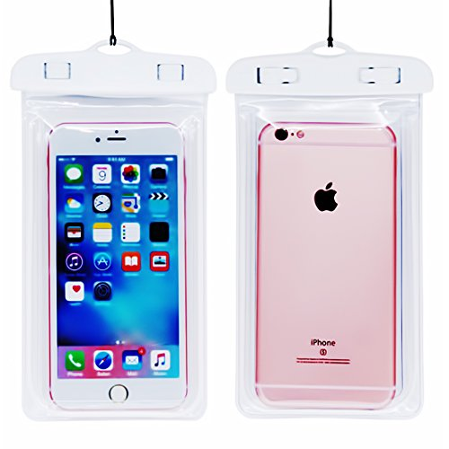 Universal Waterproof Case for iPhone Xs Max XS XR X 8 7Plus 6 6S Samsung Galaxy s8/s8plus/s7 Google Pixel HTC10 for Water Parks/Beach/Cruise/Pools up to 6.3