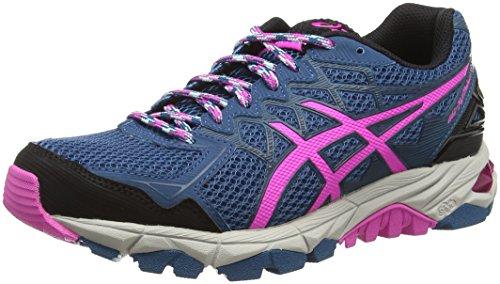 Asics Gel-Fujitrabuco 4, Chaussures de Trail Femme Bleu (Mosaic Blue/Pink Glow/Black 5335)