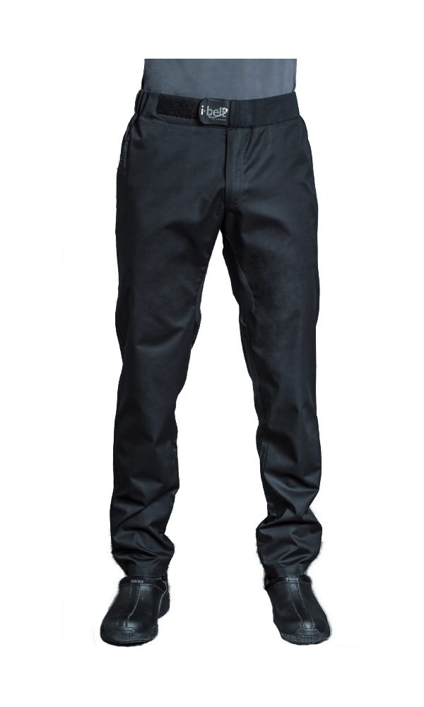 FUGA Mens Culinary Chef Pants Food Service Pants with I-Belt by Clement Design (T0 – US 28-30) by Clement Design