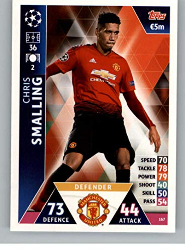 2018-19 Topps UEFA Champions League Match Attax #167 Chris Smalling Manchester United FC Official Futbol Soccer Card