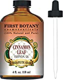 Cinnamon Essential Oil 4 Fl. Oz. With a Glass Dropper – 100% Pure & Natural Therapeutic Grade. Great As Natural Disinfectant, Odor Neutralizer, Insect Repellent & Massage Oil