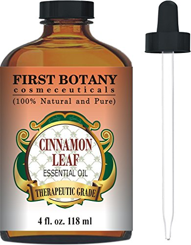 Cinnamon Essential Oil 4 Fl. Oz. With a Glass