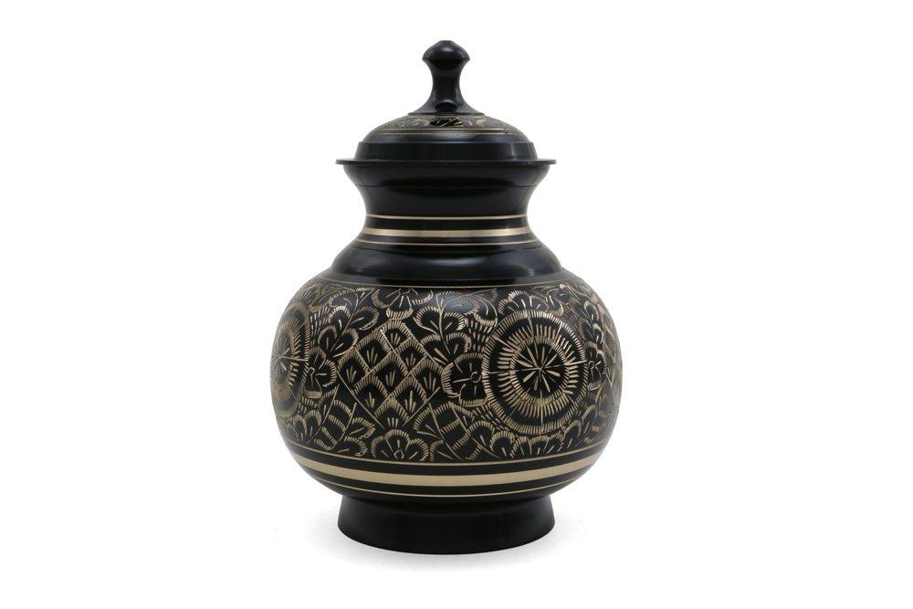 Near & Dear Pet Memorials 70 Cubic Inch Engraved Pet Cremation Urn, Large, Black by Near & Dear Pet Memorials