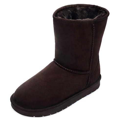 CAMEL CROWN Chaussures Hiver Bottes de Neige Bottines Femme Cheville Mode