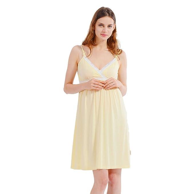 i-baby Camisón Lactancia Ropa de Premama Maternidad Vestido Pijamas Mujer Embarazada Amamantando Verano 2