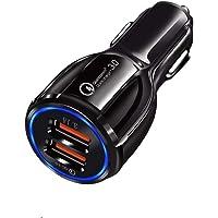 Autolader, snellader, 3,0/3,1 A, adapter, stekker, kabel, mini-sigarettenaansteker, multi-stopcontact, draagbaar, LED…