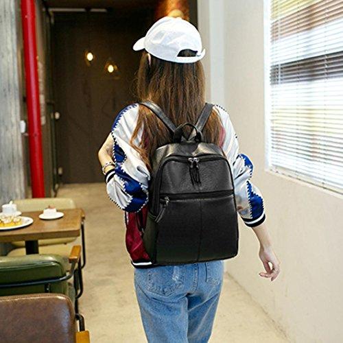 Clode® Bolso mujer Mochila viaje cuero bolso mochila escuela de hombro