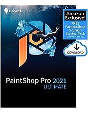 $99 » Corel PaintShop Pro 2021 Ultimate | Photo Editing & Graphic Design Software Plus Creative Collection | Amazon Exclusive 5-Brush Starter Pack [PC Download]