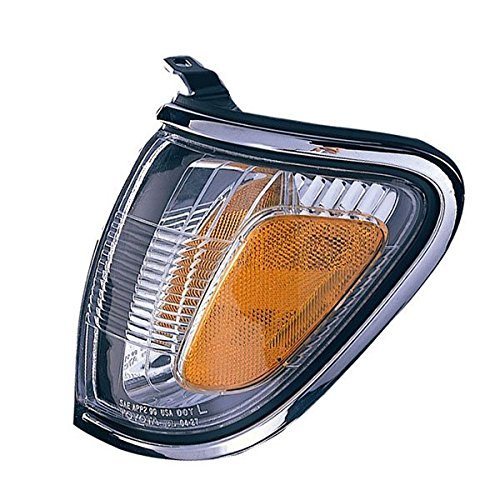 2001-2002-2003-2004 Toyota Tacoma Pickup Truck Park Corner Lamp (With Chrome Trim Bezel) Turn Signal Marker Light Left Driver Side (01 02 03 04) Driver Side Park Lamp