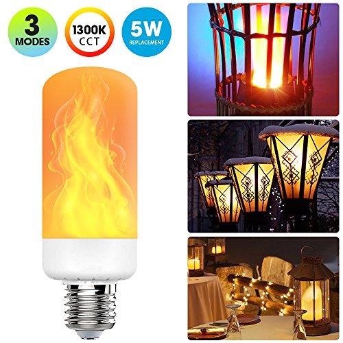 [2018 Upgrade] LED Flame Effect Light Bulb with 3 Lighting Modes, E26 Standard Base Bulb for Home/ Hotel/ Bar/ Restaurant Decoration