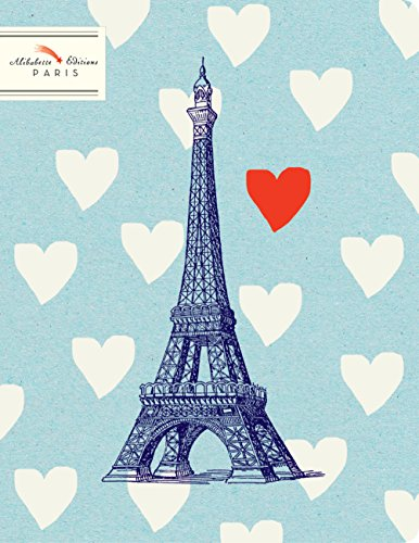 Alibabette Editions Mister Eiffel Composition Ruled Notebook, 64 Pages, 8.75 by 6.75
