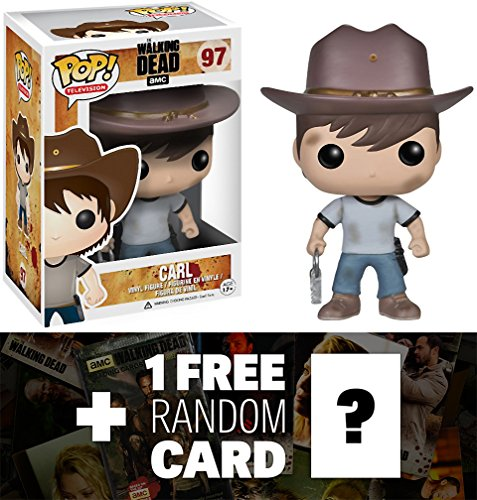 "Carl: ~4"" Funko POP! x Walking Dead Vinyl Figure + 1 FREE Official Walking Dead Trading Card Bundle"