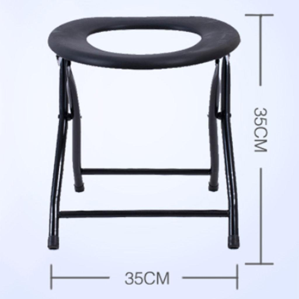 Toilet Seat Stainless Steel Folding non Slip Pregnant Women Elderly Thick Steel Moving Toilet , c xinxin.com