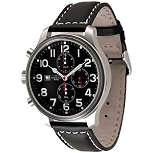 Zeno-Watch Mens Watch - Oversized Pilot Chrono Lefthander - 8557TVD-Left-a1