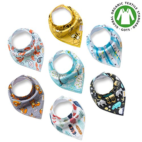 Burp Cloth Tutorial (Premium Baby Bandana Drool Bibs unisex 7-Pack Burp Cloth Gift Set for Drooling Teething Feeding 100% Organic Cotton Absorbent Hypoallergenic for Boys and Girls)