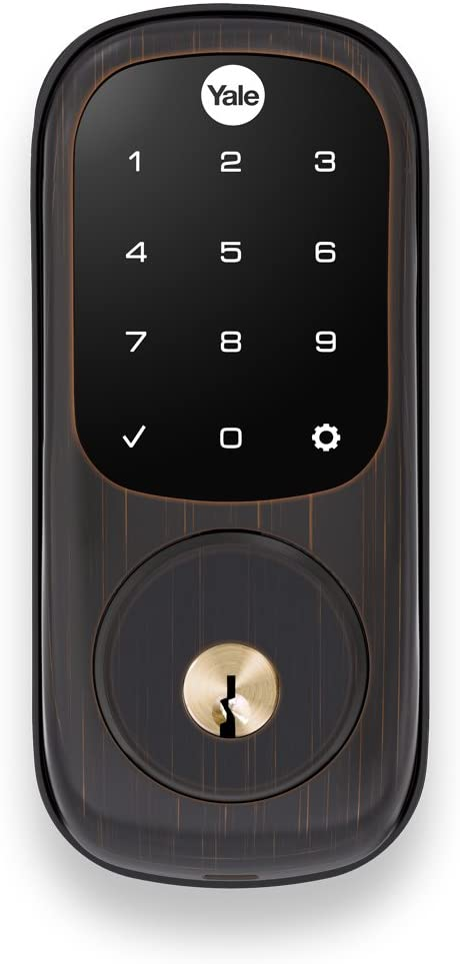 Yale Assure Lock with Zigbee - Smart Touchscreen Keypad Deadbolt - Works with Xfinity Home, Amazon Echo Show, Amazon Echo Plus and More - Bronze