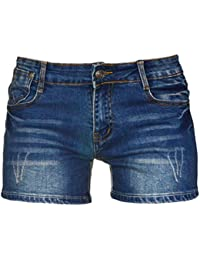 Women's Sexy Denim Fabric Short Pants Comfy Stretchy Shorts,Size 2-16