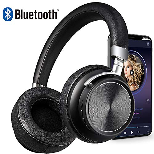 Bluetooth Headphones DIWUER Wireless Foldable Over-Ear Hi-Fi Stereo Headset With Noise Cancelling Microphone Supports Hands-Free Calling and Wired Mode for PC Cell Phones TV by DIWUER