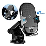 Wireless Car Charger, JOYROOM Infrared Induction Automatic Clamping Mount, Car Air Vent Wireless Charging Mount, Car Phone Holder Cradle, 7.5W for iPhone, 10W for Samsung with QI Fast Charging