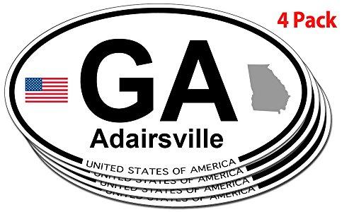 Adairsville, Georgia Oval Sticker - 4 pack