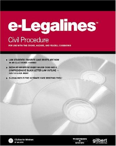 E-Legalines Software: Civil Procedure by Gilbert Staff
