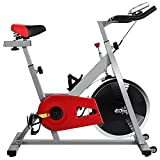 Ferty Indoor Cycling Bike Exercise Machine with Screen, Heavy Duty Gym Upright Fitness Belt Resistance Exercise Bike (US STOCK)