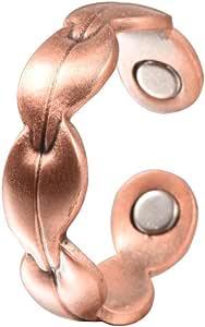 QZH Magnética Pérdida de Peso de Cobre del Anillo Pulsera con Cobre Puro Ajustable Creativo de Encaje para Mejorar la circulación de la Sangre de ansiedad Salud Regalos Accesorios de Moda Reducir
