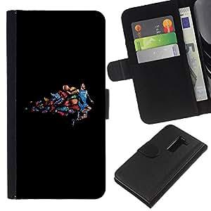 Comics Baloncesto - la tarjeta de Crédito Slots PU Funda de cuero Monedero caso cubierta de piel Para LG G2 D800